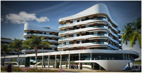 Complexe Résidentiel et d'Animation TANIT à Hammamet, (565 appartements)